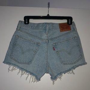 Levis 501 High Waisted Cut-Off Shorts